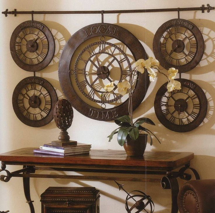 Extra Large International Times Of The World Wall Clock