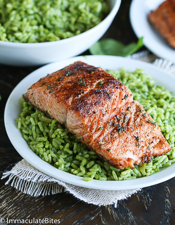 Pan Seared Salmon With Spice Rub -  Quick and easy salmon,  ready in no time  Happy New Year Guys!!! I hope you had an Amazing holiday season filled with family, food, friends, love and ready to begin the New Year, thankful and energized. I am.  On December 31st, I started getting sick ...