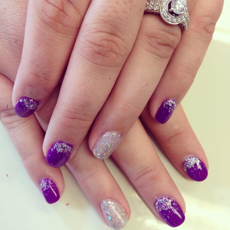Purple Ombré In Gel Polish