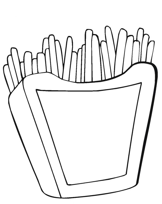 french fries coloring pages - photo#4