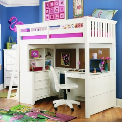 Loft Bed With Play Work Space Below
