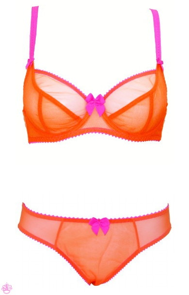 the @Claudette Dessous Sucre set in Neon Orange at Faire Frou Frou