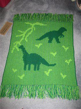 Crochet Dinosaur Afghan Pattern : childs dinosaur afghan - Media - Crochet Me Crochet Away ...