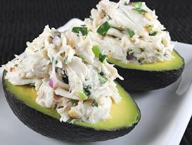 Cooking Pinterest: Cilantro and Lime Crab Salad in Avocado