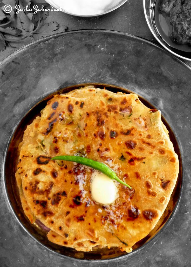 Fresh homemade Potato stuffed Indian flat bread - Aloo paratha ...