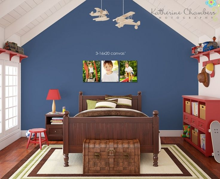 boy room i like the blue accent wall arizona house