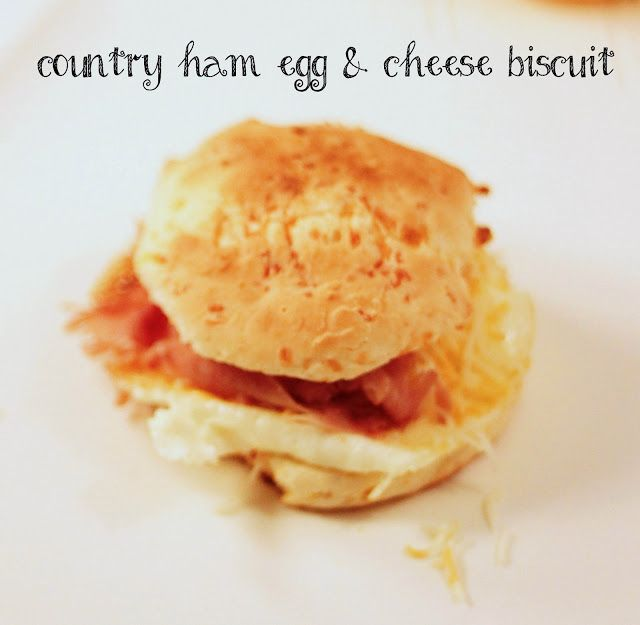 Country Ham, Egg & Cheddar Biscuits | Sandwiches | Pinterest