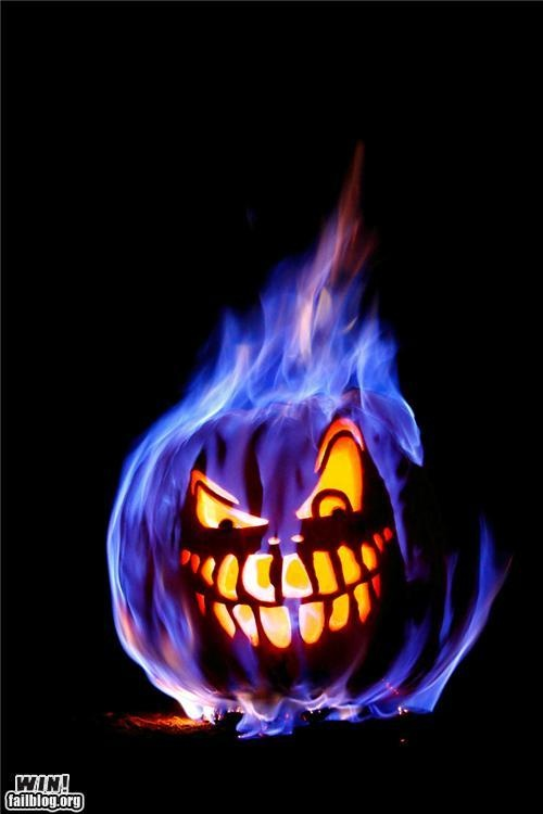 Flaming pumpkin holiday ideas pinterest
