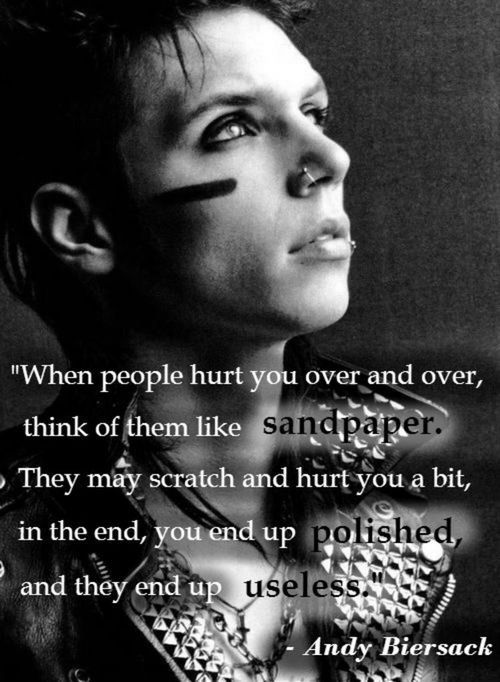 Andy BiersackAndy Biersack Quotes Sandpaper