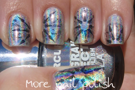 More Nail Polish: Diamond design using temporary tattoo paper