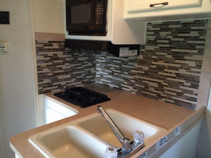 rv kitchen backsplash remodel rv ing pinterest