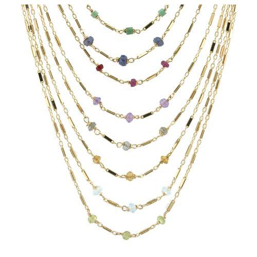 tara birthstone necklaces www.threebishops.com