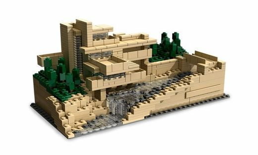 Lego fallingwater franklloydwright l e g o pinterest - Lego architecture maison blanche ...