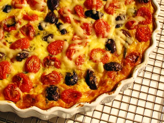 Tomato, Olive, and Rosemary Crustless Quiche Recipe : Food Network ...