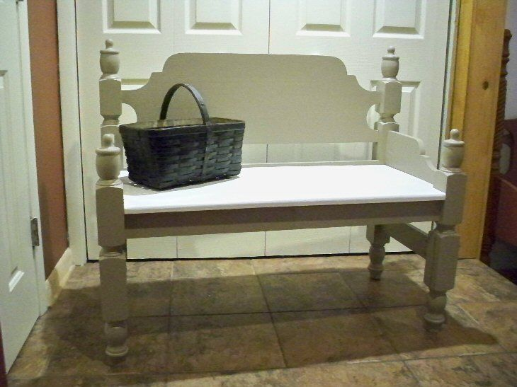 Cottage Style Antique Repurposed Bench Re Purpose Bed Ideas Pinte