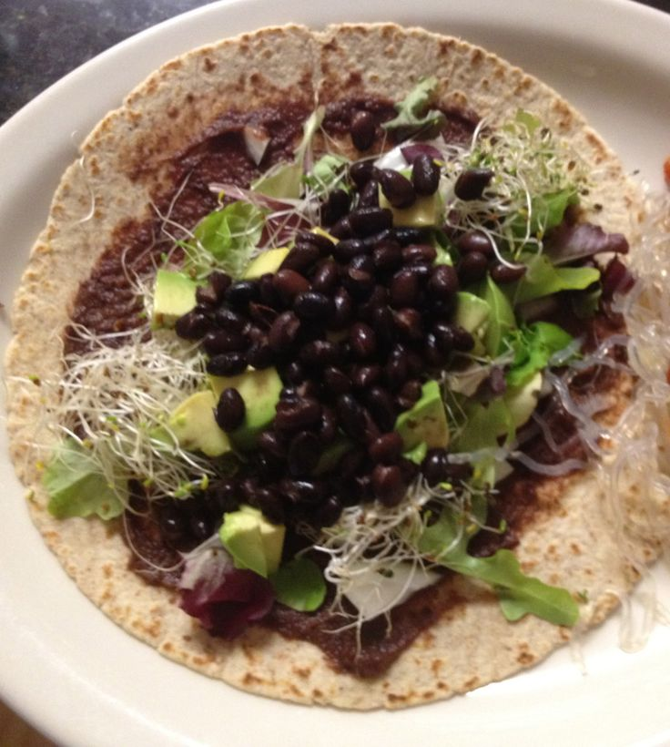 Black bean avocado wrap | Food/Recipes | Pinterest