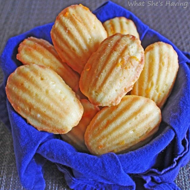 Orange Madeleines | Madeleines | Pinterest