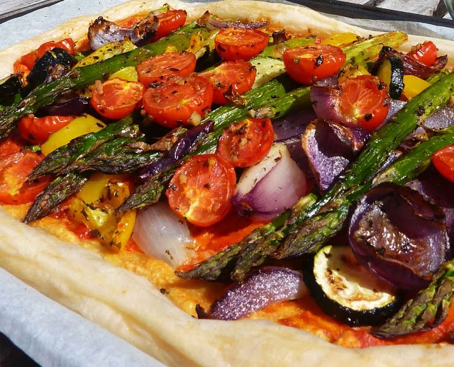 Vegan Roasted Vegetable Tart | Yummy Vegan Foods! | Pinterest