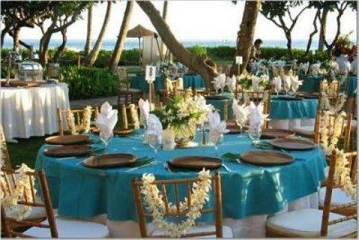 Hawaiian Theme Wedding Reception Wedding Day Pinterest