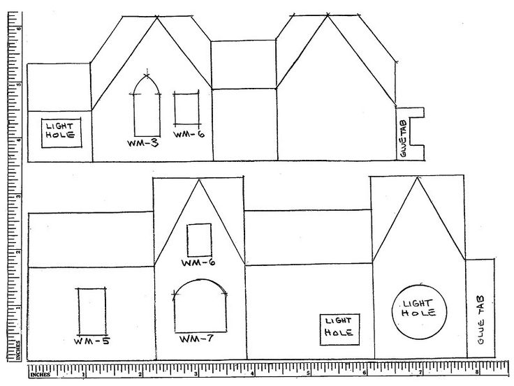 Cottage Die Cut Mulls Plan 1 Of 2 Jpeg Putz Houses