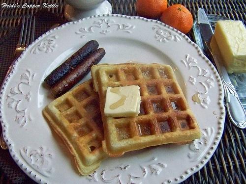buttermilk sour cream waffles | blog | Pinterest