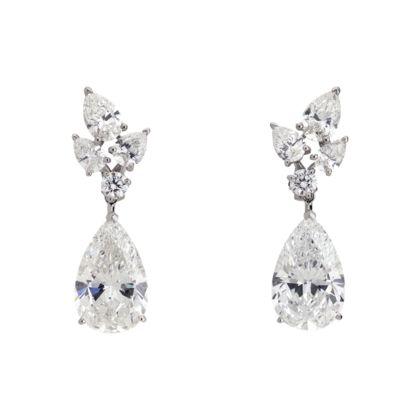 cartier pendientes diamantes