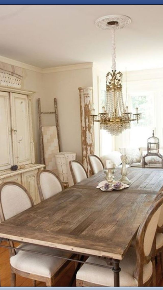 Beautiful shabby chic dining room farmhouse porch likes pinterest - Shabby chic dining rooms ...