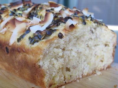 Banana, Passionfruit and Coconut Loaf | food to make & eat | Pinterest