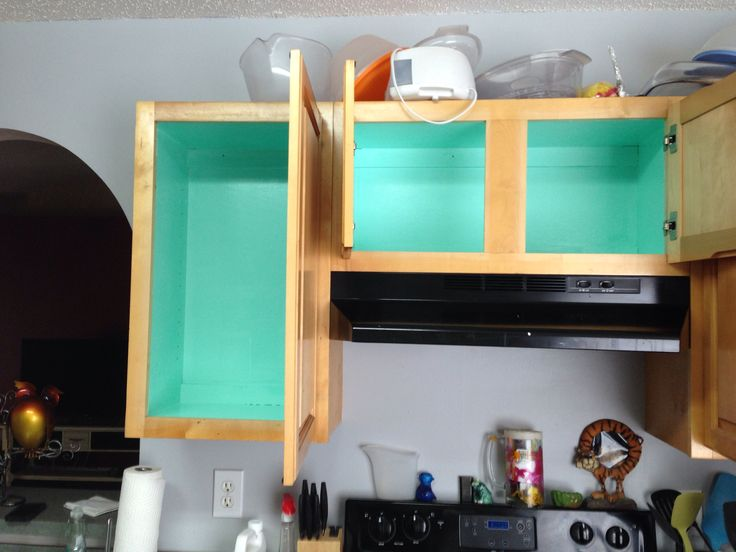 Teal Inside Kitchen Cabinets House Stuff Pinterest