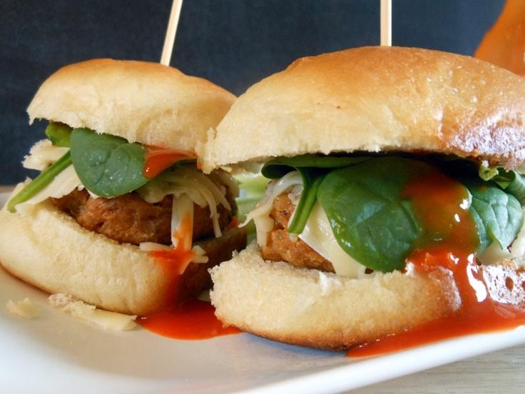 buffalo turkey sliders; superbowl recipes