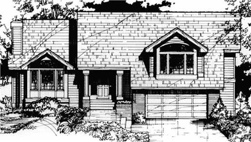 Tri Level House Plan House Plans Pinterest