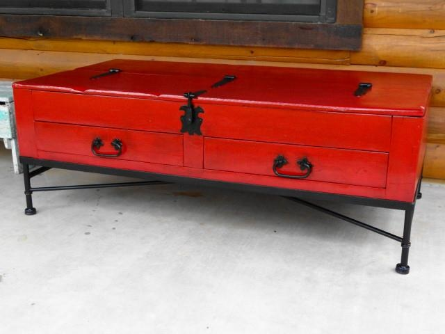 Rustic Red Coffee Table Diy Pinterest