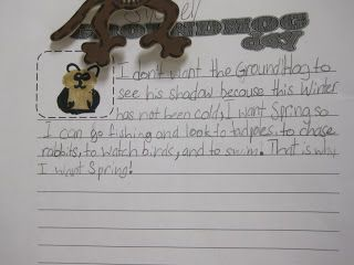 This cute groundhog emergent reader reviews quite a few standards.