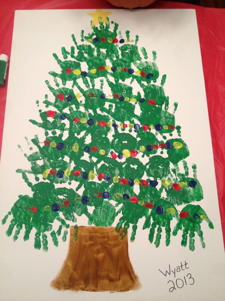 christmas tree handprint - photo #20