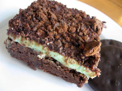 Girl Scout Thin Mint Brownies from Lulu the Baker.