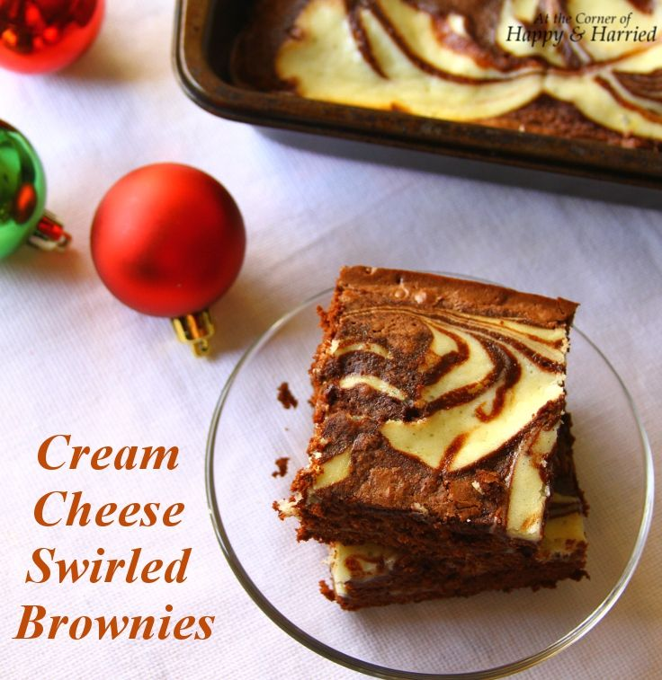 Easy Dessert - Cream Cheese Swirled Or Marbled Brownies