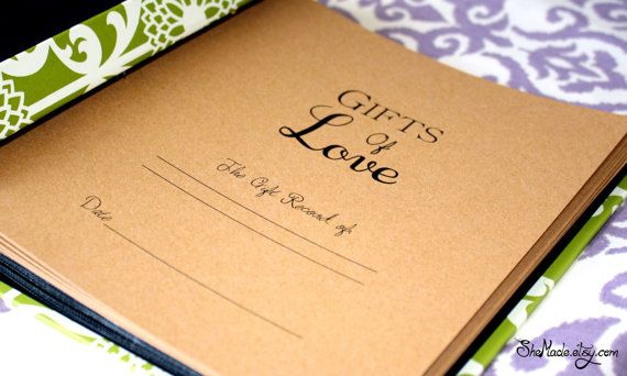Wedding Gift Log : Gift Log book perfect for bridal showers weddings baby by SheMade