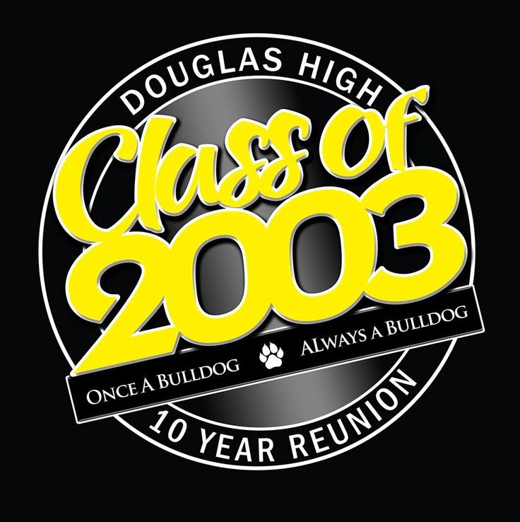 class of 2003 10yr reunion shirt design douglas high school douglas