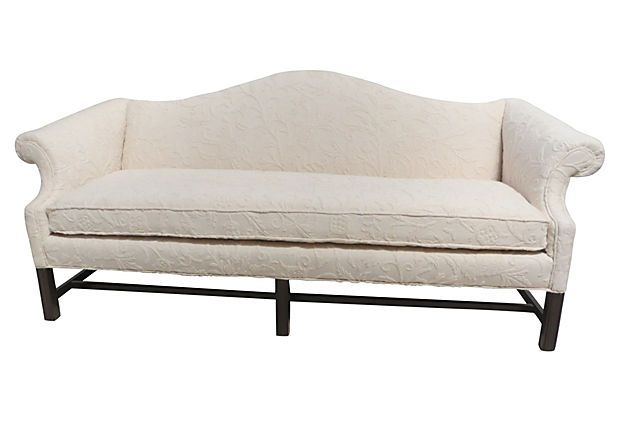 Camelback Chippendale Style Sofa