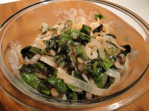 Sauteed Onions and Chard | Savory Recipes | Pinterest