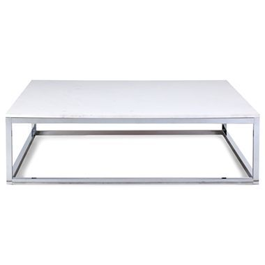 Snyder Marble 42 Square Coffee Table Gray