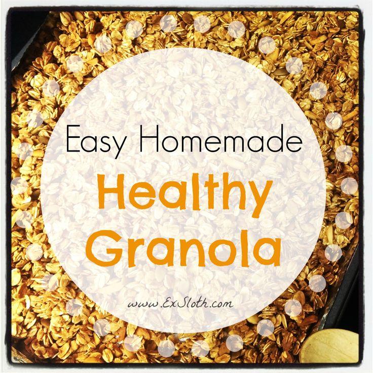 Easy Homemade Healthy Granola | Clean Treats | Pinterest