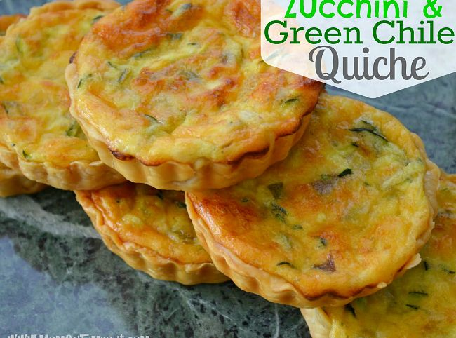 Zucchini & Green Chile Quiche | Recipe