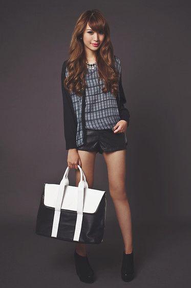 Forever 21 Necklace, Emoda Bag, Fashion Cookie Shoe Avenue Boots