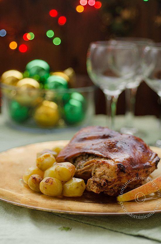 Puerco (pernil) asado | A perfect dinner! | Pinterest