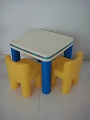 Little tikes table and chair set mine had green table legs yes i