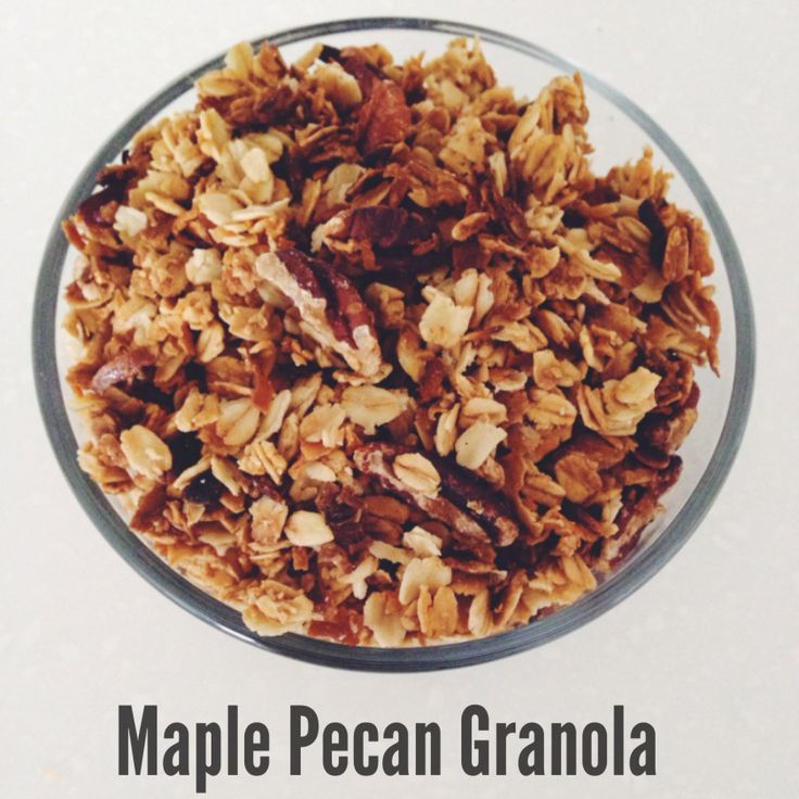 maple pecan granola | To Dine On | Pinterest