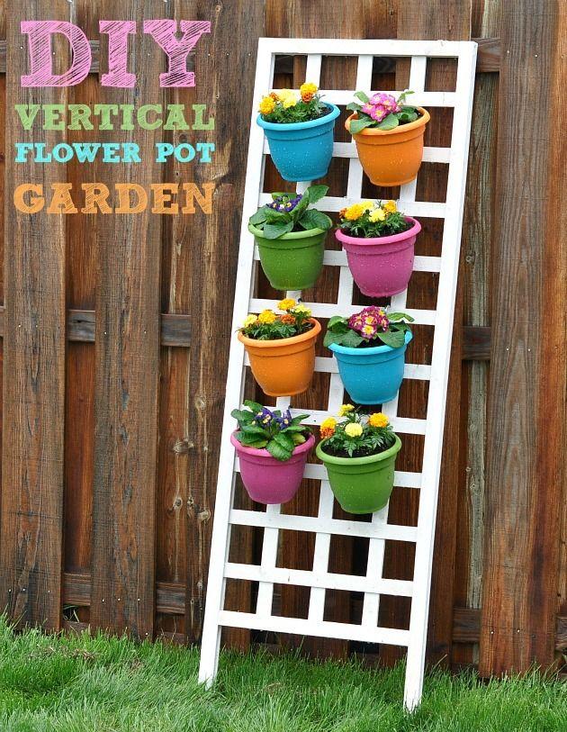 diy vertical flower pot garden for the home pinterest
