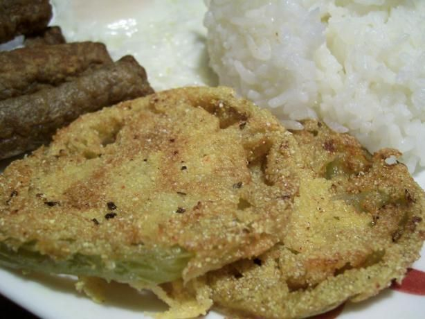Fried Green Tomatoes with cornmeal