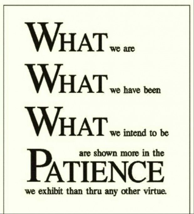 """understanding the virtue of patience Inspirational quotes about patience and understanding  11) """"be patient and understanding life is too short to be vengeful or malicious"""" – phillips brooks   40) """"patience is the virtue of an ass that trots beneath his burden, and is quiet"""" – george granville."""
